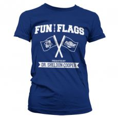 Teorie velkého třesku dámské triko Fun With Flags