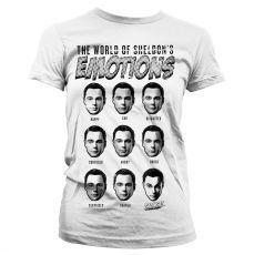 Teorie velkého třesku dámské triko Sheldons Emotions