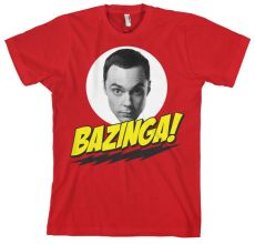 Tričko Teorie velkého třesku Bazinga Sheldons Head