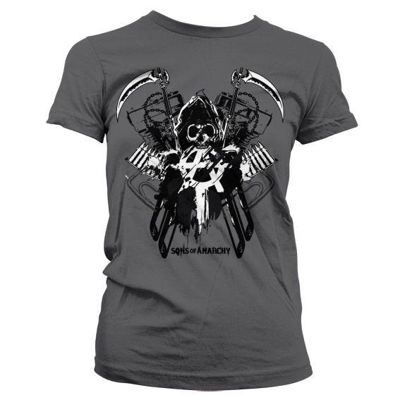 bb97955e43a Sons of Anarchy dámské triko s potiskem Engine Reaper