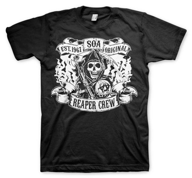Sons of Anarchy pánské triko s potiskem Original Reaper Crew