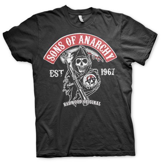 Sons of Anarchy pánské triko s potiskem Redwood Original Red Patch
