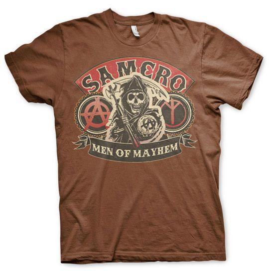 Sons of Anarchy pánské triko s potiskem SAMCRO Men Of Mayhem