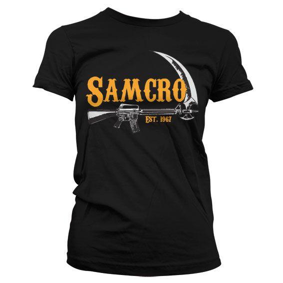 Sons of Anarchy stylové dámské tričko SAMCRO Est. 1967