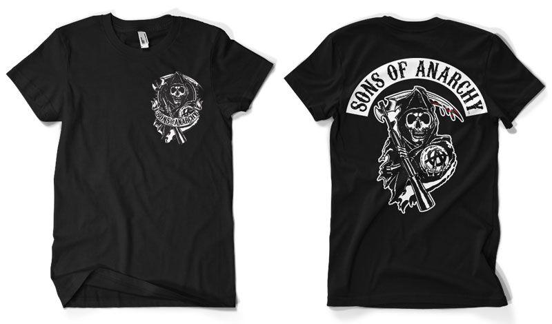 Sons of Anarchy stylové pánské tričko Backpatch