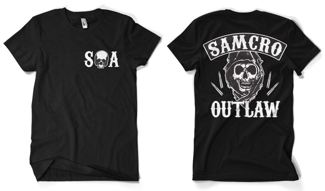 Sons of Anarchy stylové pánské tričko Samcro Outlaw
