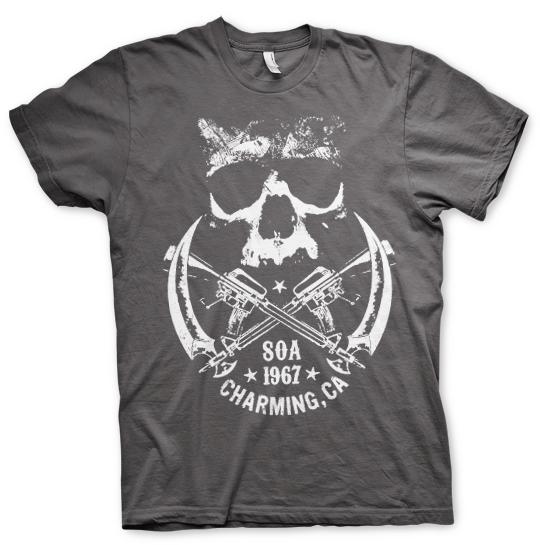Sons of Anarchy stylové tričko s potiskem 1967 Skull