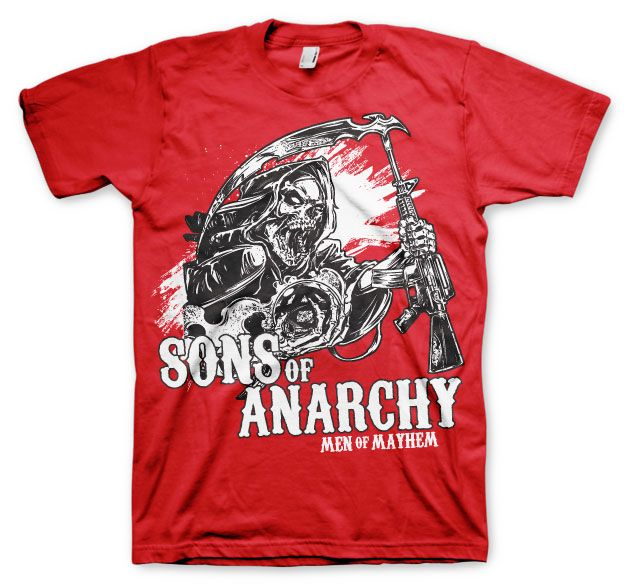Sons of Anarchy stylové tričko s potiskem AK Reaper