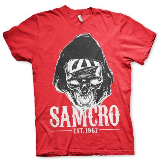 80936c9c3a7 Sons of Anarchy stylové tričko s potiskem SAMCRO Dark Reaper