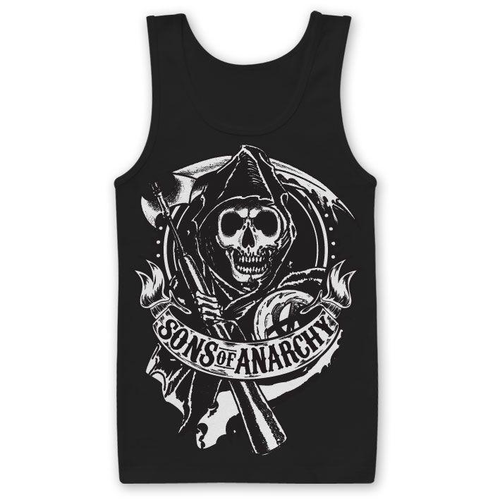Sons of Anarchy tílko s potiskem Scroll Reaper