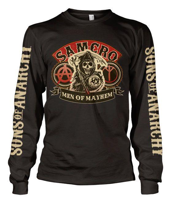Sons of Anarchy triko s dlouhým rukávem SAMCRO Men Of Mayhem