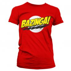 Dámské tričko Teorie velkého třesku Bazinga Super Logo