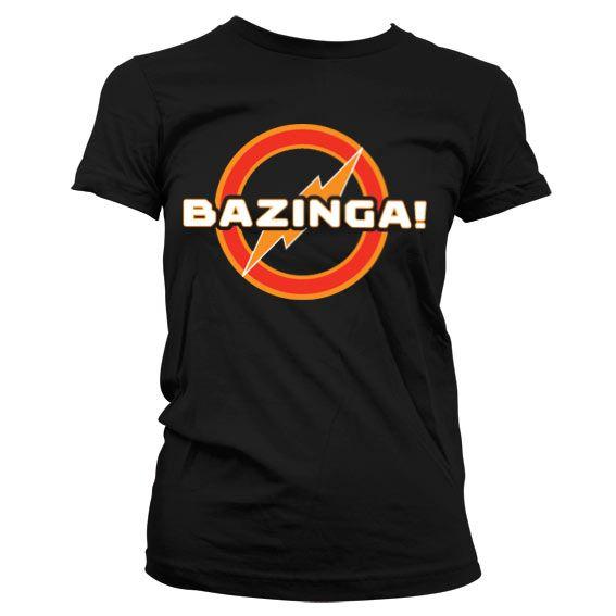 Stylové dámské tričko The Big bang Theory Bazinga Underground Logo