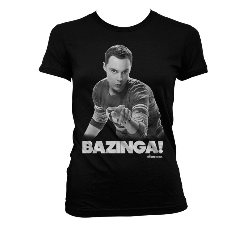 Stylové dámské tričko The Big bang Theory Sheldon Says BAZINGA!