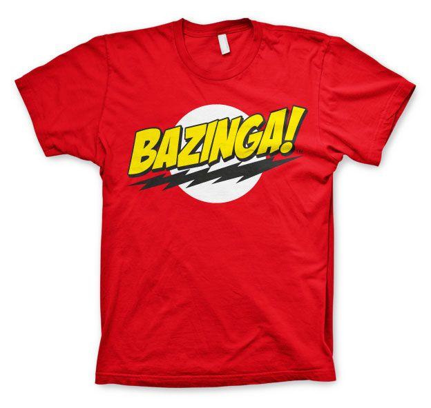 Stylové pánské tričko The Big Bang Theory Bazinga Super Logo