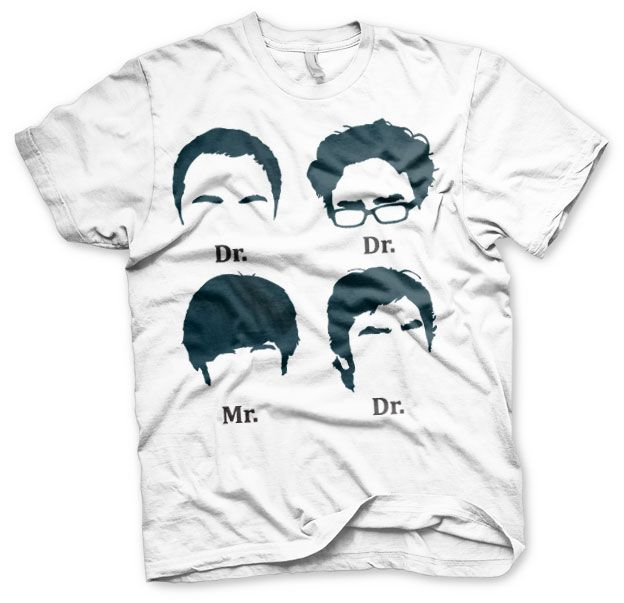 Stylové pánské tričko The Big Bang Theory Prefix Heads