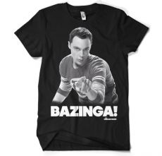 Teorie velkého třesku pánské tričko Sheldon Says BAZINGA!