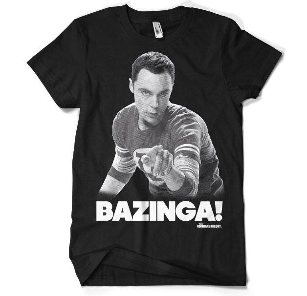 Stylové pánské tričko The Big Bang Theory Sheldon Says BAZINGA!