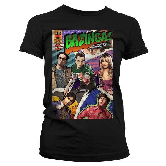 The Big bang Theory dámské tričko s potiskem Bazinga Comic Cover