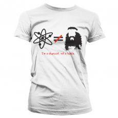 Dámské tričko Teorie velkého třesku I´m A Physicist, Not A Hippie