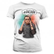 Dámské tričko Teorie velkého třesku Sheldon Your Head Will Now Explode