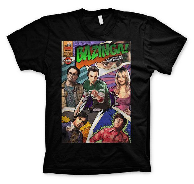 The Big bang Theory pánské tričko s potiskem Bazinga Comic Cover