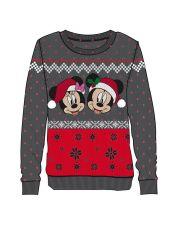 Disney Dámské Knitted Christmas Mikina Mickey & Minnie Velikost S