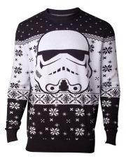 Star Wars Knitted Christmas Mikina Stormtrooper Velikost M