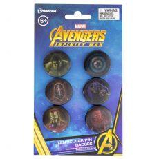 Avengers Infinity War Lenticular Pin Placky 6-Pack
