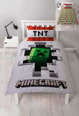 Minecraft Povlečení Set Reversible Dynamite 135 x 200 cm / 48 x 74 cm