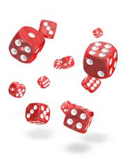 Oakie Doakie Dice D6 Dice 12 mm Marble - Red (36)
