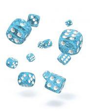 Oakie Doakie Dice D6 Dice 12 mm Speckled - Light Blue (36)