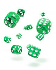 Oakie Doakie Dice D6 Dice 12 mm Translucent - Green (36)