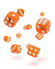 Oakie Doakie Dice D6 Dice 12 mm Translucent - Orange (36)
