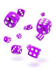Oakie Doakie Dice D6 Dice 12 mm Translucent - Purple (36)