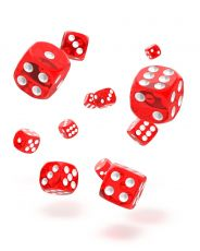 Oakie Doakie Dice D6 Dice 12 mm Translucent - Red (36)
