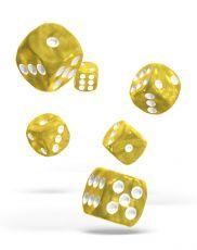 Oakie Doakie Dice D6 Dice 16 mm Marble - Yellow (12)