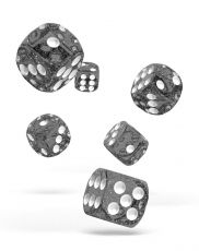 Oakie Doakie Dice D6 Dice 16 mm Speckled - Black (12)