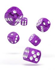 Oakie Doakie Dice D6 Dice 16 mm Speckled - Purple (12)