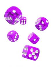 Oakie Doakie Dice D6 Dice 16 mm Translucent - Purple (12)