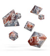 Oakie Doakie Dice RPG Set Gemidice - Silver-Rust (7)
