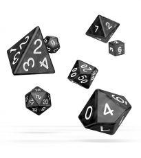 Oakie Doakie Dice RPG Set Marble - Black (7)