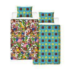 Super Mario Povlečení Set Reversible Gang 135 x 200 cm / 48 x 74 cm