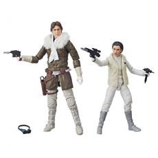 Star Wars Episode V Black Series Akční Figures 2018 Leia & Han (Hoth) Convention Exclusive 15 cm