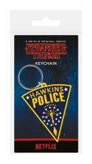 Stranger Things Gumový Keychain Hawkins Police 6 cm