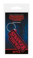 Stranger Things Gumový Keychain Logo 6 cm