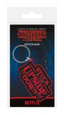 Stranger Things Gumový Keychain Stuck In The Upside Down 6 cm