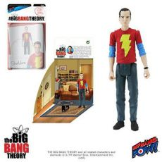 The Big Bang Theory Akční Figures with Diorama Set Sheldon Shazam Shirt 10 cm
