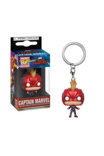 Captain Marvel Pocket POP! Vinyl Keychain Captain Marvel (with Helmet) 4 cm Funko