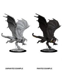 D&D Nolzur's Marvelous Miniatures Unpainted Miniature Young Black Dragon Case (6)